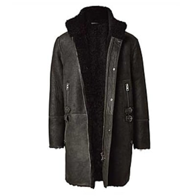 All Saints Shearling Parka: Best Leather Jackets