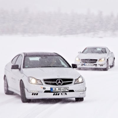 A Mercedes, on Ice