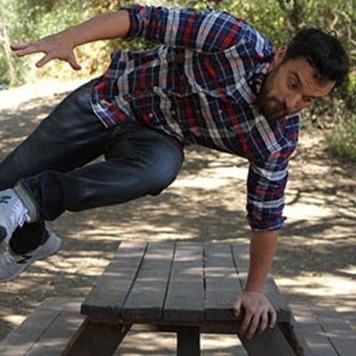 Watch Jake Johnson Put Stretch Denim to the Ultimate Test