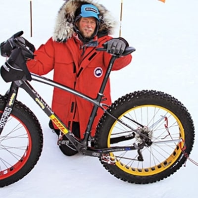 The First Man to Bike to the South Pole