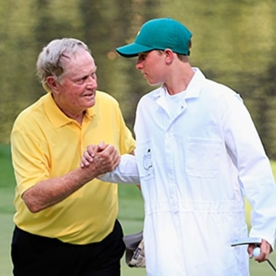 Jack Nicklaus Sinks a Hole-in-One in Masters Par-3 Contest