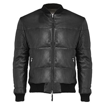 Lot78 Padded Bomber Jacket: Best Leather Jackets