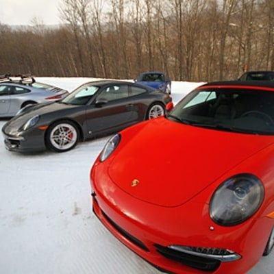What It's Like to Drive A Porsche 911 Up a Ski Slope