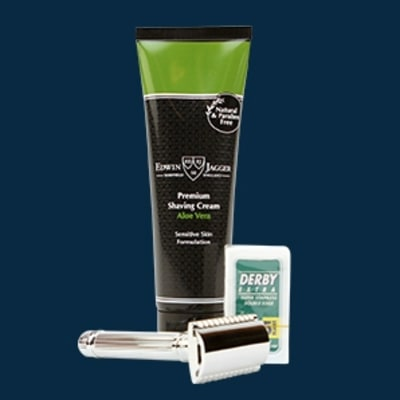 Edwin Jagger Safety Razor + Shaving Cream: Grooming Gift Guide