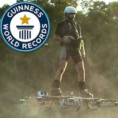 See the New World Record-Setting Hoverboard Ride