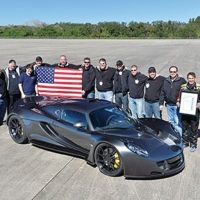 New Record: Breaking 270-MPH in a Hennessey Venom GT