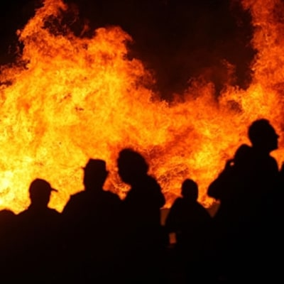 The Festival of the Bonfires Lights Up the Levee
