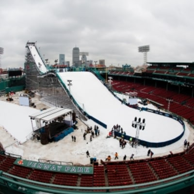 Fenway Park Just Transformed Into a Giant Snow Park