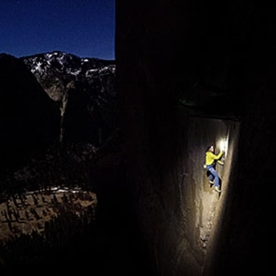 Tommy Caldwell Takes a Break, High Over Yosemite