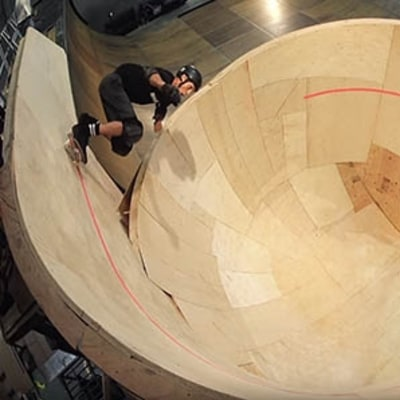 Tony Hawk Pulls off the World's First Horizontal Loop on a Skateboard