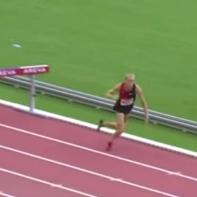 Watch a Steeplechaser Fall and Still Set a New American Record