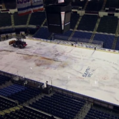 Watch a Time Lapse of the Final Ice Breakdown at Nassau Coliseum
