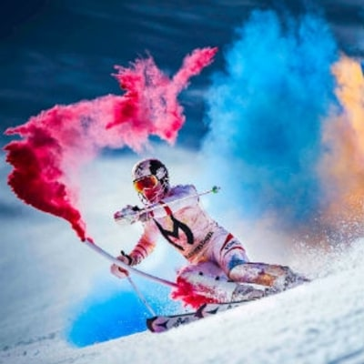 Watch Ski Champion Marcel Hirscher's Most Colorful Run