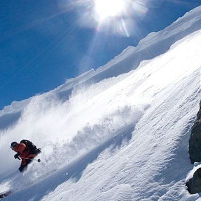 Explore backcountry powder in the Andes.