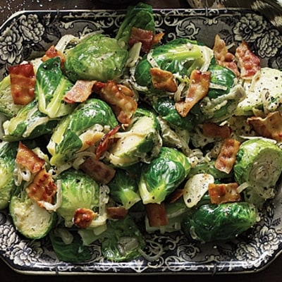Creamed Brussels Sprouts with Bacon (Jon Shook and Vinny Dotolo)