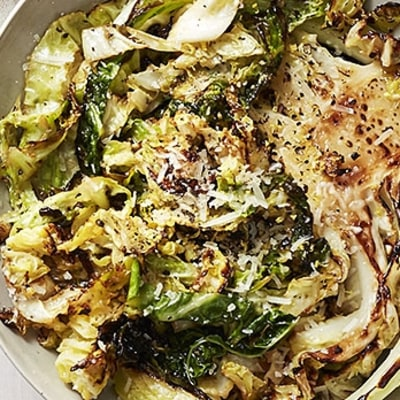 Seared Cabbage with Lemon and Parmesan