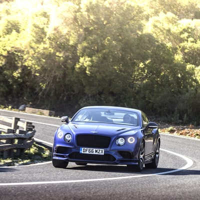 A Rubber-Burning Test Drive in the $293,000 Bentley Continental Supersports
