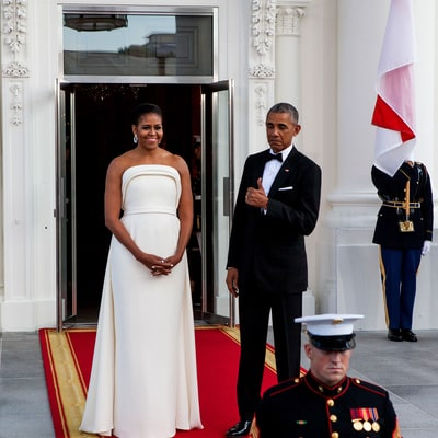 Michelle Obama's Best State Dinner Dresses of All Time