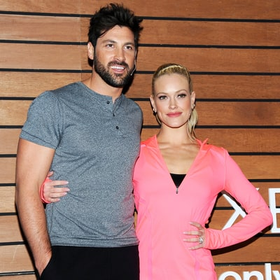 Pregnant Peta Murgatroyd Shares Photo in Bed With Fiance Maksim Chmerkovskiy For Anniversary