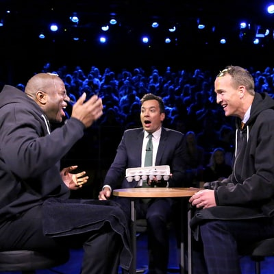 Peyton Manning, Magic Johnson Play Russian Egg Roulette: See Who Won!