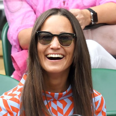 Pippa Middleton Channels Her Inner '60s Queen With a Graphic Print Dress at Wimbledon