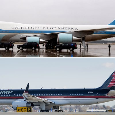 Showdown: Air Force One vs Trump Force One