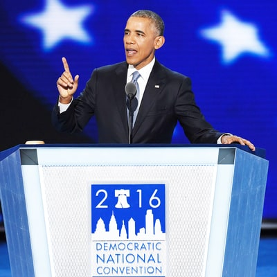 President Barack Obama Praises Hillary Clinton During DNC Speech: 'She Was Doing Everything I Was … but Backwards in Heels'