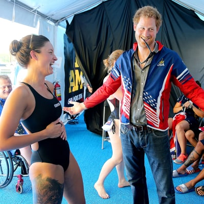 Prince Harry Bonds With Stunning Team USA Swimmer Who Gives Him Her Invictus Medal