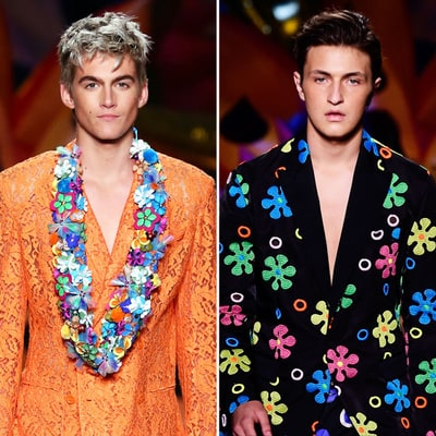 Cindy Crawford's Son Presley Gerber and Anwar Hadid Make Runway Debuts at Moschino