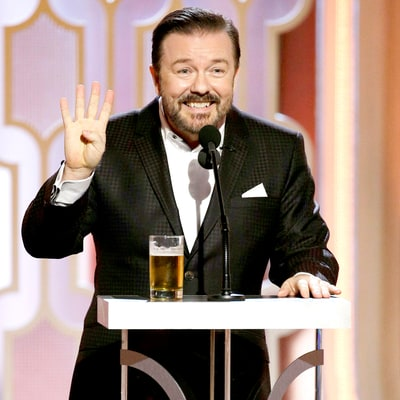 Was Ricky Gervais funny at the 2016 Golden Globes?