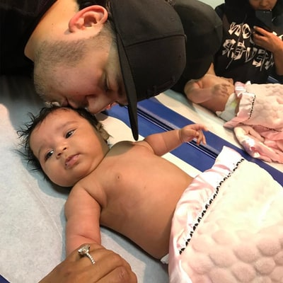 Rob Kardashian Kisses Dream in Cute Snap as She Gets Her 2-Month Check Up