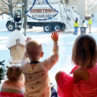 Family of Girl, 4, Battling Cancer Receives Touching Gift From Garbagemen