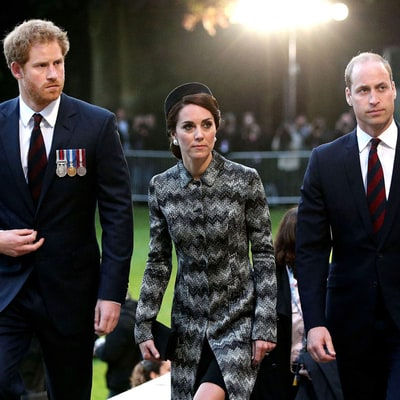 Prince Harry, Duchess Kate, Prince William Attend Overnight Vigil in France: Photos