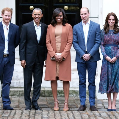 Kate Middleton Stuns in Jewel Tones While Meeting With Barack and Michelle Obama