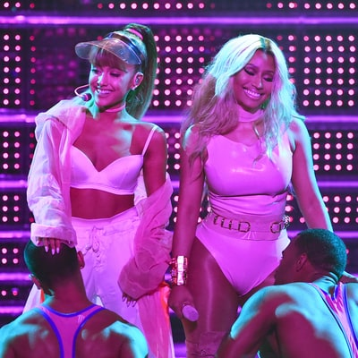 Watch Ariana Grande, Nicki Minaj's Seductive VMAs Performance