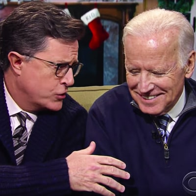 Watch Stephen Colbert, Joe Biden Hold 'Family Meeting' With America