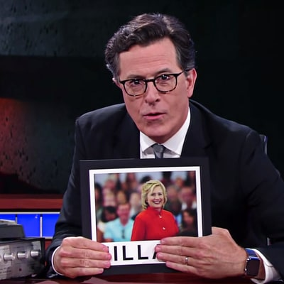 Hear Stephen Colbert's Wild Conspiracy Theory About Hillary Clinton