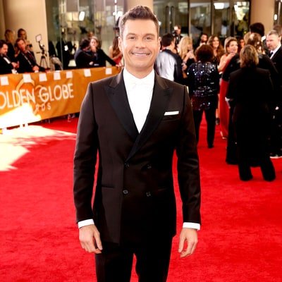 Ryan Seacrest Takes a Dig at Donald Trump and Billy Bush on Golden Globes 2017 Red Carpet