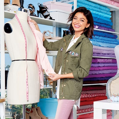 Sarah Hyland Shows Off Her Style — and Cute Dog! — in First Candie's Campaign