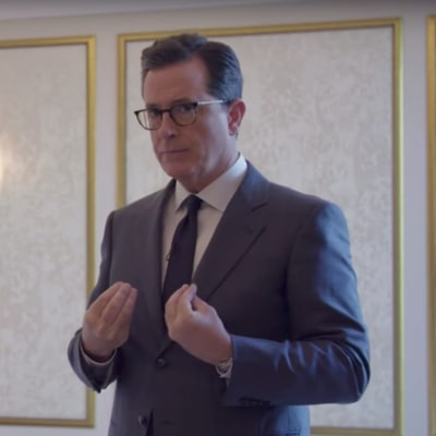 Watch Stephen Colbert Visit 'Trump Pee Pee Tape' Hotel Room in Moscow