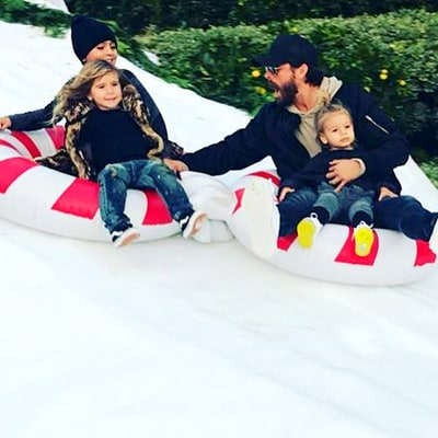 Scott Disick, Kourtney Kardashian Go Snow Tubing With Their Three Kids: Photos