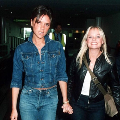 Victoria Beckham Shares #TBT With Baby Spice, Rocks a Canadian Tuxedo