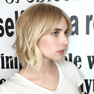 Emma Roberts Trades in Her Long Red Hair for a Blonde Bob Hairstyle