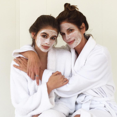 Cindy Crawford and Daughter Kaia Even Twin Their Beauty Routines