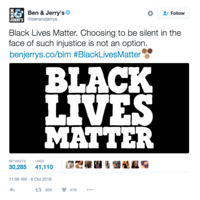 Black Lives Matter... To Ben & Jerry's