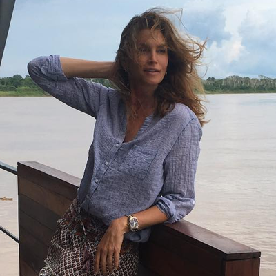 Cindy Crawford Spent Her Thanksgiving in the Amazon, So You Can Add That to Your List of Goals