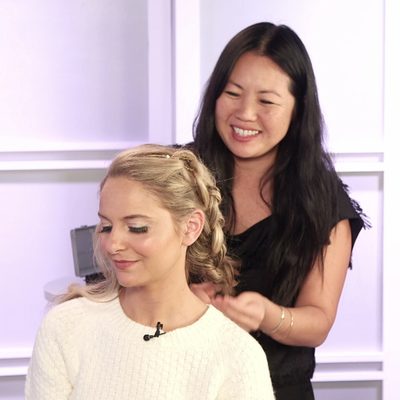 How to Accessorize a Knotted Braided Updo Like Jennifer Lawrence's