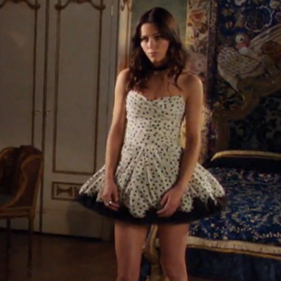 All the Details on Princess Eleanor's Dotted Date Night Style on 'The Royals'