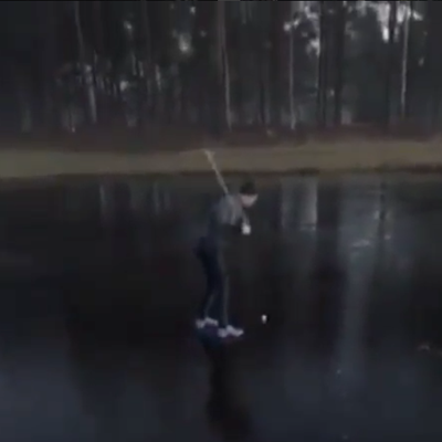 Today's PSA: Don't Golf on Frozen Lakes — Just Take the Drop