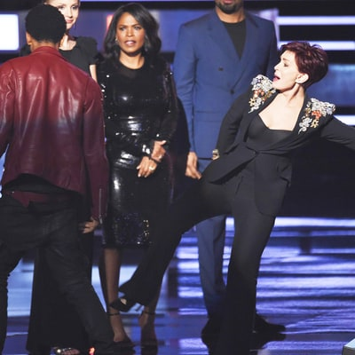 Sharon Osbourne Kicks Stage Crasher During The Talk's People's Choice Awards Acceptance Speech: Watch